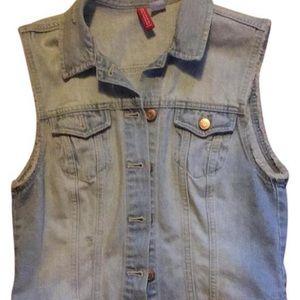 H&M Distressed Jean Vest